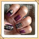 Cheetah Nails with a Princess Bling