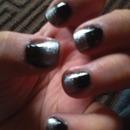 Black & silver ombre
