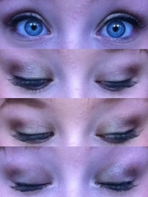 Maybelline color tattoo in bad to the bronze. Covergirl lash blast clump crusher mascara. L'oreal lineur intense liquid liner.