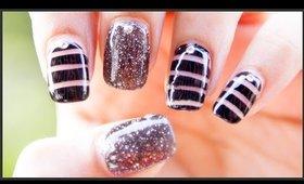 Black Diamond Nail Art Design | #ChipperNails