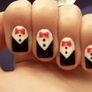 Tuxedo Nails