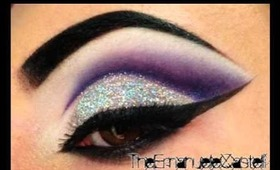 Purple Cut Crease & Glitter - Make Up Tutorial ft. BitchSlap Cosmetics