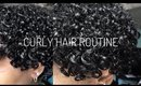 STRAIGHT TO CURLY HAIR ROUTINE | Cici Gee