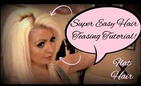 Super easy hair teasing tutorial!