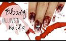 Bloody Mix and Match Nail Art | Halloween ♡
