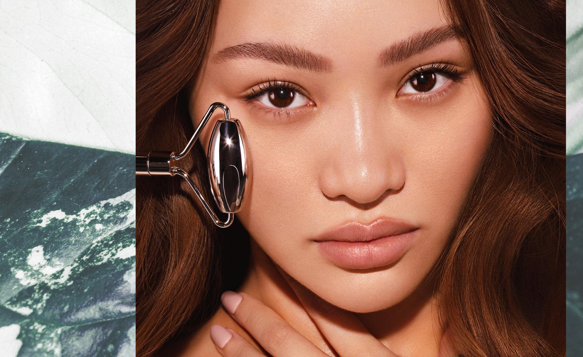 Photo: SACHEU Beauty founder Sarah Cheung with a facial roller