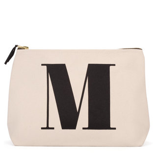 Natural Wash Bag Letter M