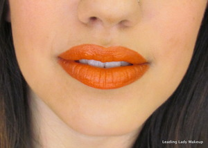 Lime Crime's My Beautiful Rocket lipstick with MAC's What A Blast! and Chicory liners
