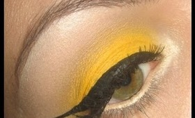 Make-up tutorial : How-to Yellow eye shadow and red lips