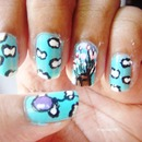 UP inspired nails!!!!!!