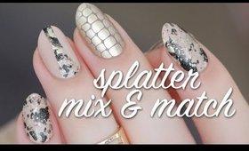 Nude Splatter Mix & Match Nail Art Tutorial | Lacquerstyle