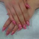 Sparkly Pink Gel Nails