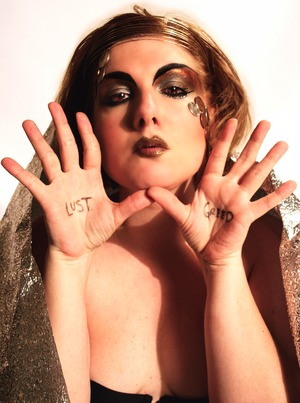 Lust & Greed - Avant Garde look I did for a client for a Photo Shoot