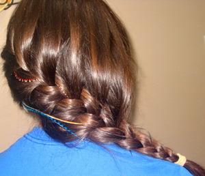 Long Asymmetrical Side French Braid