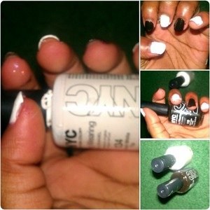 NYC Black Polish  NYC White Polish