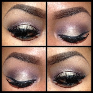 Smashbox waterproof powder palette using the dark purple    Shundor cosmetics celebrity single shadow