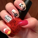 spooky halloween nails opi and Sally Hansen