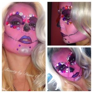 Pretty in pink sugarskull!