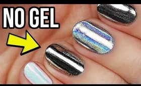 Apply Chrome, Holo, & Unicorn Nail Powders WITHOUT GEL!