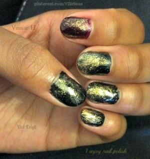 All of the nail polishes used were: Zoya Lael, Zoya Raven & Zoya Gabrielle.