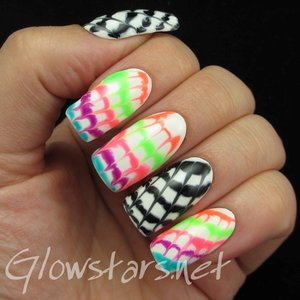Read the blog post including a tutorial at http://glowstars.net/lacquer-obsession/2015/09/tie-dye-manicure-tutorial-using-gel-polish/