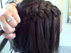 Cute water fall braid