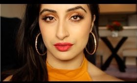 Summer Makeup-GRWM Bronze Eyes & Red Lips