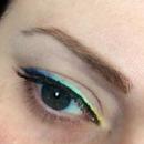 Pastel gradient eyeliner