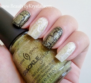 China Glaze Crackle Glitters - Jade-D