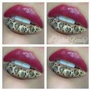 Animal Print Lips