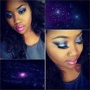 Galaxy inspired makeup