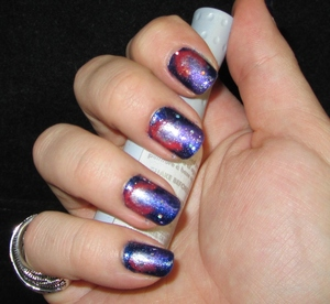 My first Galaxy Nails!  Check out the NOTD here: http://rivuletsbeauty.blogspot.com/2012/01/notd-universe-at-my-fingertips-my-first.html
