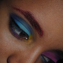 Colorful eyes and brow