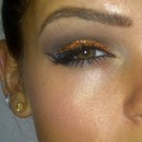 Orange Glitter Smokey Eye