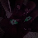 Glow In Dark 3D Flower Nail Art