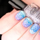 Sparkly Stepping Stone Nails!