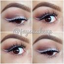 White eyeliner spring trend