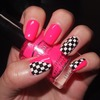 Checkered and pink