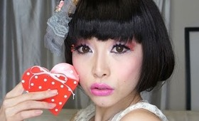 Super Cute Valentine's Hair Style ~ Simple Fake Bob ~