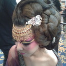 Chinese Empress Inspired High Fashion Hairstyle