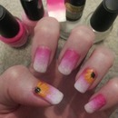 Ombre with sunflowers