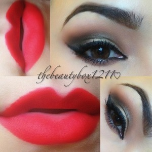 Smokey eye with Mac ruby woo