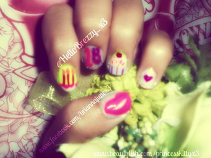 My 18th birthday is on 8.13, I already did my nails, clearly :) haha.