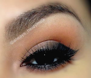 Soft smokey eye with wing liner I used the Anastasia Beverly Hills lavish palette details on my Instagram page