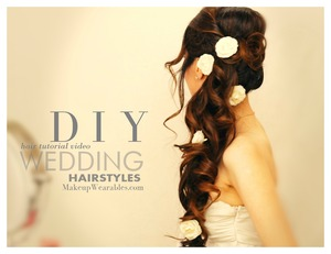 See how you can do this long, wedding, prom, homecoming hairstyle on your own hair for medium, or long hair.  http://www.makeupwearables.com/2013/09/long-wedding-hairstyles-updos-hair-tutorial.html