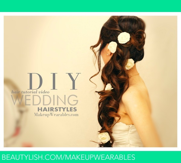 Wedding Hairstyle Tutorials: Romantic, Curly Half-Up Hairstyles
