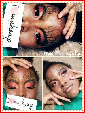 This is my niece she let me draw on her face lol.. Subscribe to my YouTube Channel to show your support @ Glamorous Leigh Eje (links are on my Beautylish page) Thank you! =) also follow me on here