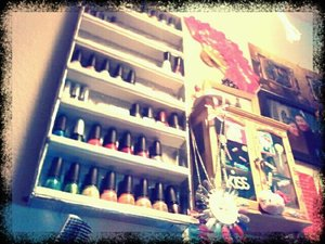 i made my own nail polish rack! hehe! and it cost me about $5!