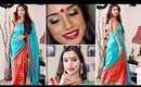 Nabobarsho special Bengali makeup and ethnic OOTD