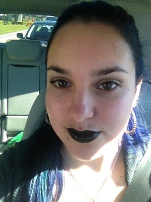 This didn't last very long, and I need an actual black lipstick, but I love it anyway!